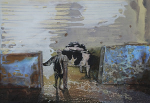 'My Father in the Milking Parlour'