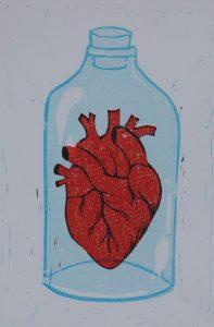 Heart in bottle - Jordan Moran.
