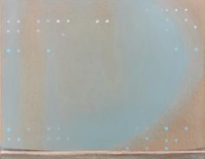 Spéir (Sky) 2019 42cmx33cm. Limestone marls from the Burren oil paint and enamel on board.